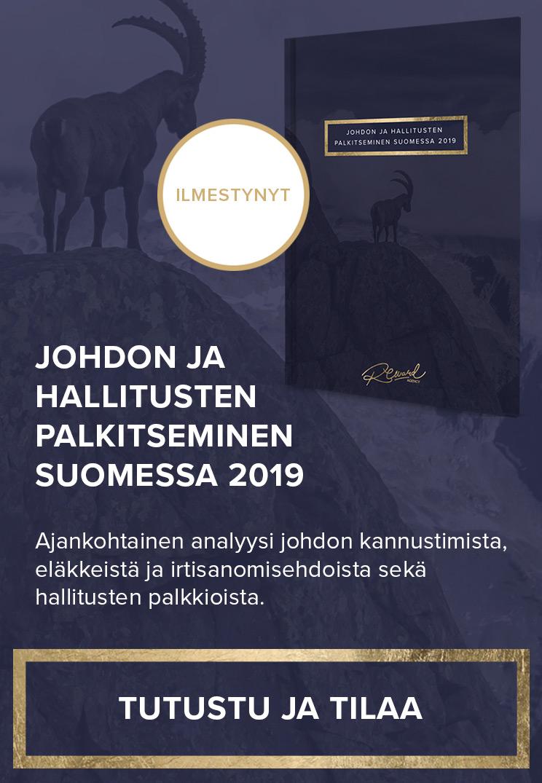 Johdon ja hallitusten palkitseminen Suomessa 2019