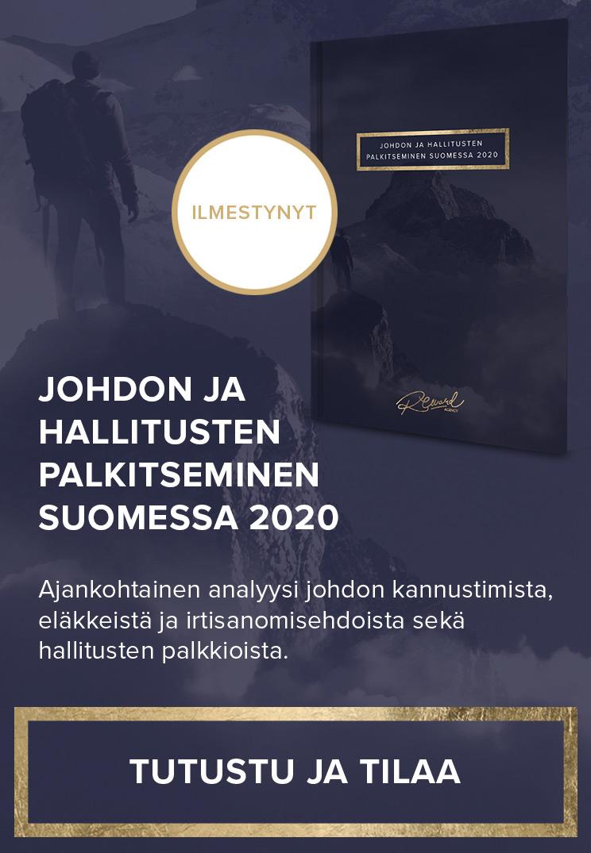 Johdon ja hallitusten palkitseminen Suomessa 2020